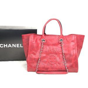 Chanel Glazed Deauville Tote Bag %100 Leather
